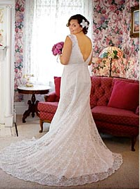 A bride in her wedding dress before her Napa Valley wedding