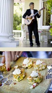 Guitar player at a Napa Valley wedding