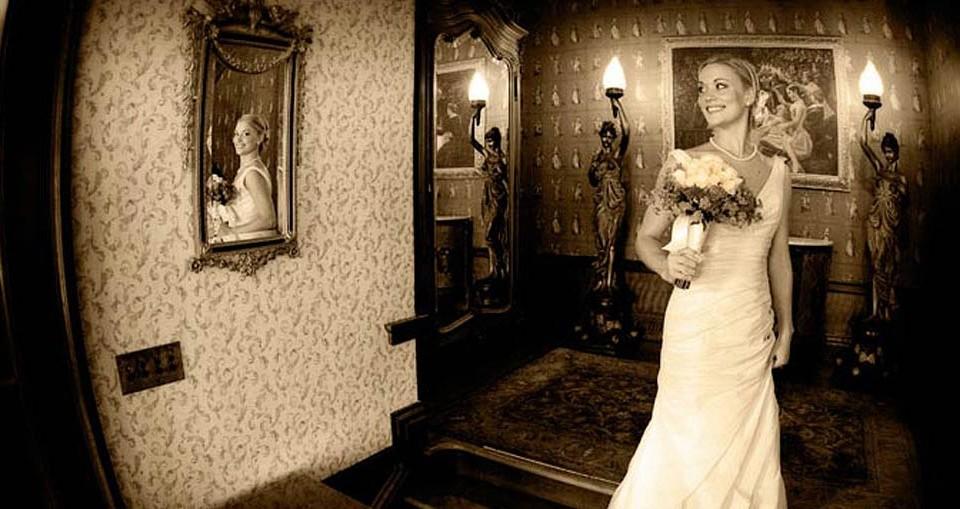 Beautiful bride posing for her Napa wedding