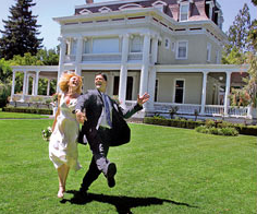 Newlyweds at our Napa Valley wedding venue