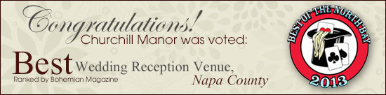 Churchill Manor, The Best Wedding Venue in Napa Valley
