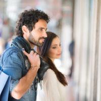 Couple shopping at Riverbend Plaza