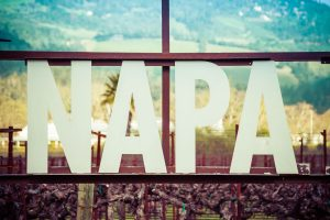 Detail of the Napa Valley Sign