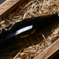 Wine in box.