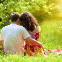 Couple enjoying a picnic at Bothe State Park