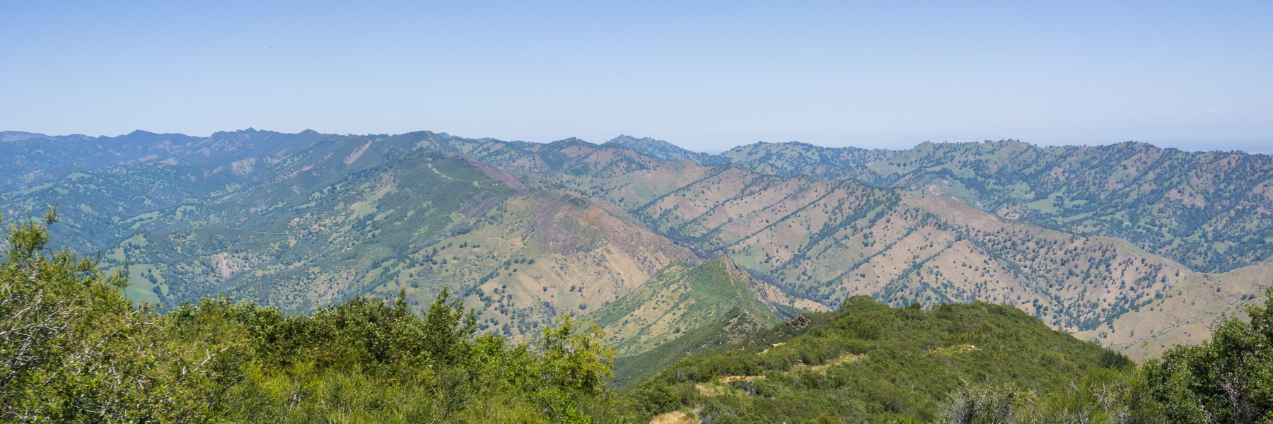 Napa Valley Mountains feature several Napa Hiking Trails