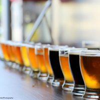 beer flight at Napa Valley breweries
