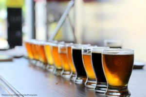 beer flight at Napa Valley breweries