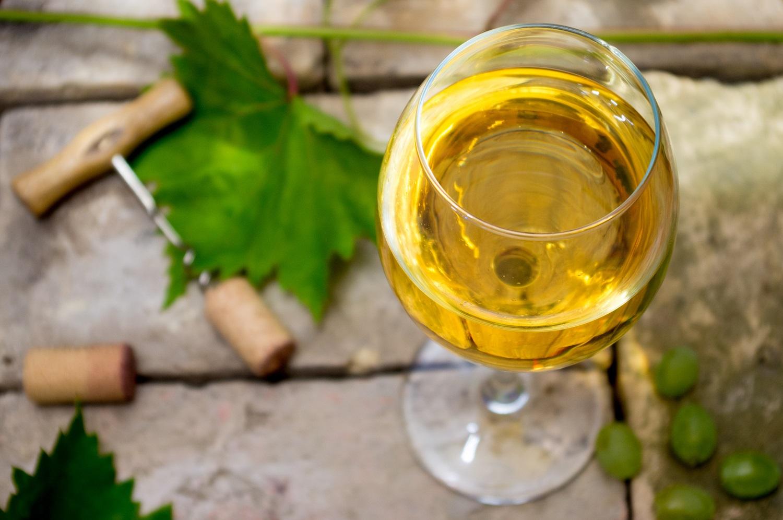 enjoy a glass of chardonnay at Poseidon Vineyard