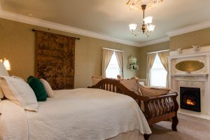 Stay in the Rutherford Room at our inn when you visit Round Pond Table.