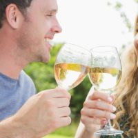 Toast with a glass of Chardonnay at Truchard Vineyards