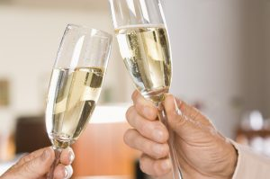 Enjoy a glass of sparkling wine at Domaine Carneros Winery