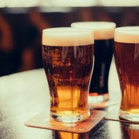 Glasses of Beer. Enjoy one yourself at Stone Brewing Company