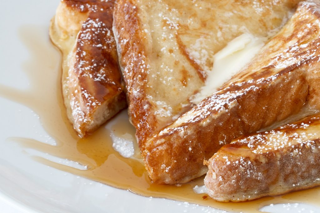 French toast with butter and syrup