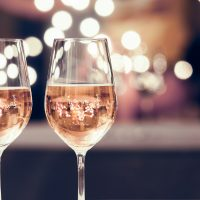Two Glasses of Sparkling Rose